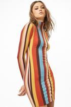 Forever21 Striped Mock Neck Mini Dress