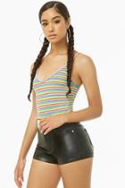 Forever21 Rainbow-striped Cami Bodysuit