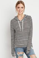 Forever21 Striped Loose Knit Hoodie