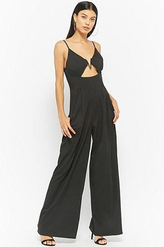 Forever21 High-waist Palazzo Jumpsuit