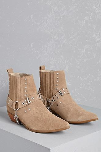Forever21 Y.r.u. Studded Suede Booties