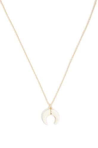 Forever21 Crescent Pendant Chain Necklace