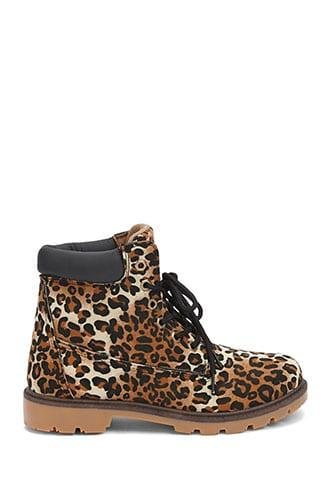 Forever21 Leopard Print Combat Boots