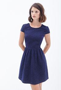 Forever21 Lacy Cutout Tea Dress