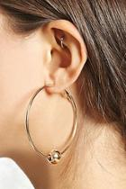 Forever21 Ball Hoop Earrings