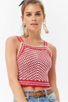 Forever21 Multi-colored Crochet Crop Top