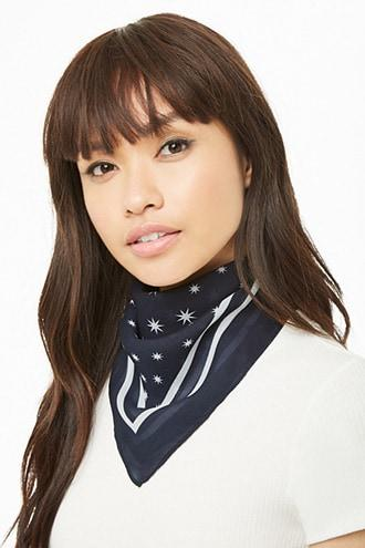 Forever21 Star Print Square Scarf