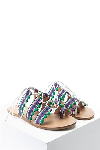 Forever21 Tribal Print Toe Ring Sandals