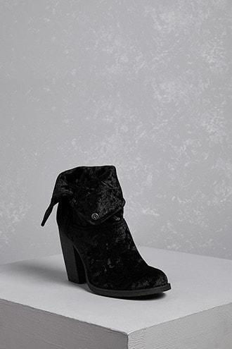 Forever21 Sbicca Velvet Heel Boots
