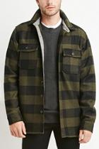 Forever21 Buttoned Plaid Jacket