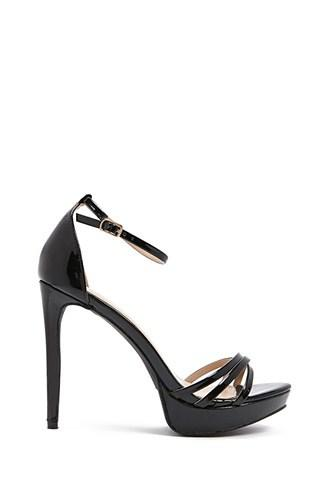 Forever21 Faux Patent Leather Platform Stiletto Heels