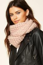 Forever21 Pink Open-knit Infinity Scarf