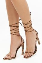 Forever21 Faux Suede Leopard Print Heels
