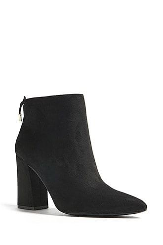 Forever21 Faux Suede Pointed Ankle Boots