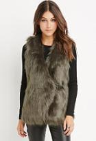 Love21 Buckled Faux Fur Vest
