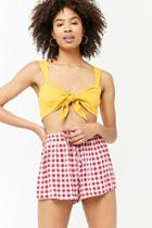 Forever21 Gingham Drawstring Shorts