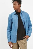 21 Men Classic Chambray Shirt