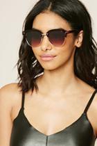 Forever21 Brown Browline Square Sunglasses