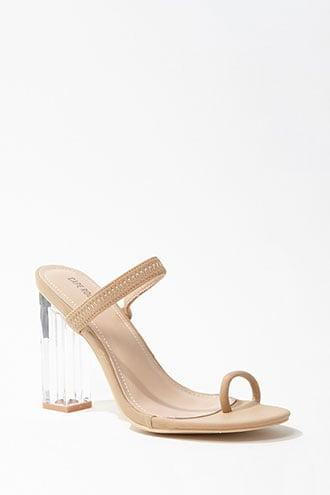 Forever21 Faux Leather Lucite Heels