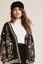 Forever21 Oversized Embroidered Cardigan