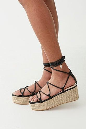 Forever21 Lace-up Espadrille Wedges