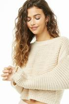 Forever21 Cropped Open-knit Sweater