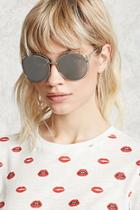 Forever21 Mirrored Square Cutout Sunglasses