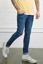 21 Men Men's  Dark Denim Slim-fit Jeans