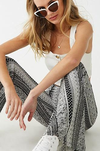 Forever21 Paisley Print Flare Pants