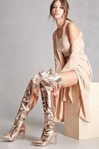 Forever21 Metallic Thigh-high Boots