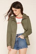 Forever21 Women's  Olive Classic Utility Jacket
