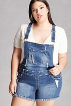 Forever21 Plus Size Denim Overall Shorts