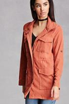Forever21 Faux Suede Utility Jacket