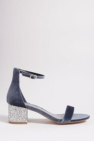 Forever21 Velvet Glitter Heels