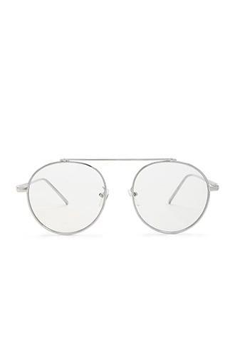 Forever21 Men Round Metallic Aviator Sunglasses