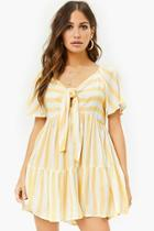 Forever21 Knotted Striped Mini Dress
