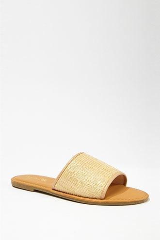 Forever21 Straw Slide Sandals