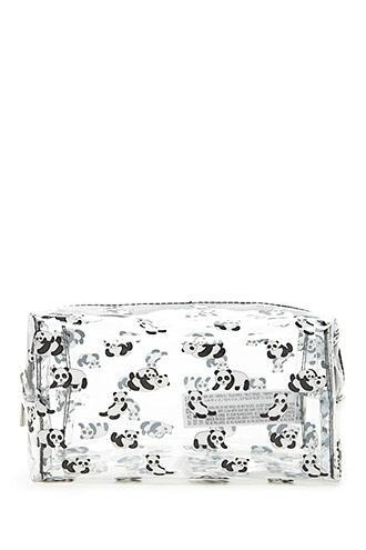 Forever21 Panda Clear Makeup Bag