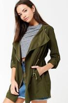 Forever21 Drawstring Hooded Jacket