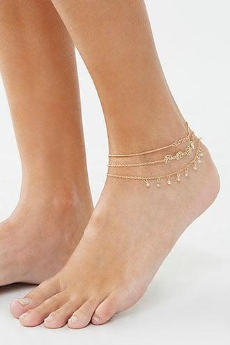 Forever21 Layered Charm Anklet Set