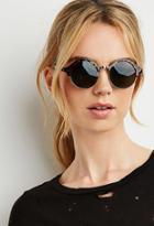 Forever21 Half-rim Round Sunglasses (brown/gold)