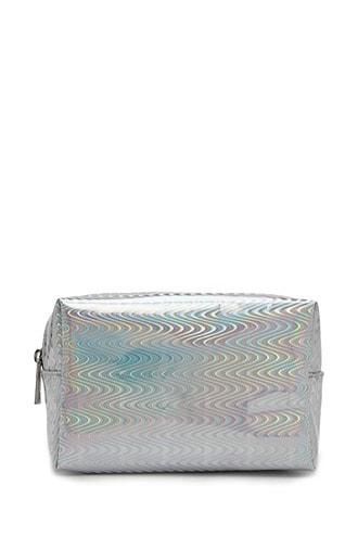 Forever21 Holographic Wavy Makeup Bag