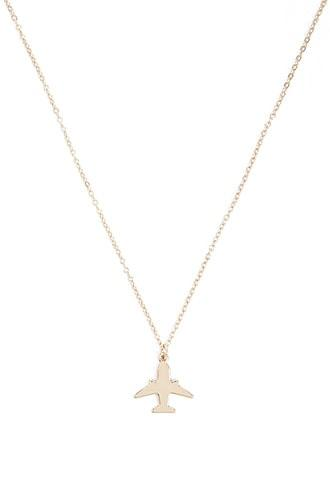 Forever21 Airplane Pendant Necklace