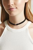 Forever21 Geo Faux Suede Choker