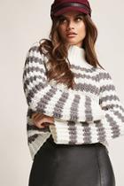 Forever21 Stripe Turtleneck Sweater