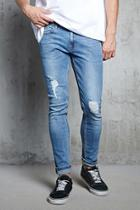 Forever21 Distressed Faded Skinny Jeans