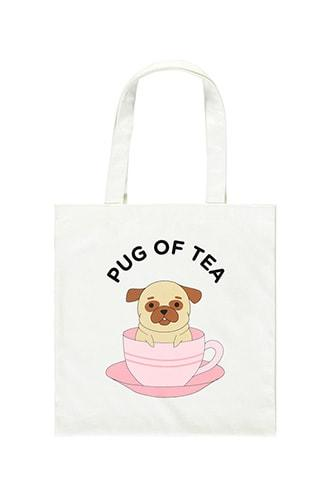 Forever21 Pug Of Tea Graphic Tote