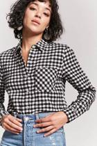 Forever21 Gingham Button-front Shirt