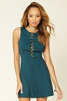 Forever21 Women's  Lace-up Skater Dress