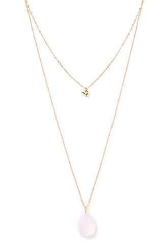 Forever21 Layered Faux Gem Necklace